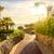 美しい · 熱帯ビーチ · エジプト · 手のひら · パラソル · 海 - ストックフォト © givaga