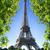 Eyfel · Kulesi · nehir · Paris · Fransa · bağbozumu · kırmızı - stok fotoğraf © givaga