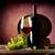 retro · natureza · morta · vinho · tinto · barril · livros · vidro - foto stock © givaga
