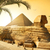 piramit · muhteşem · Büyük · Sfenks · giza · Mısır · seyahat - stok fotoğraf © givaga