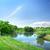 primavera · paisagem · grama · verde · estrada · nuvens · céu - foto stock © givaga