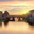 híd · folyó · Florence · reggel · Olaszország · égbolt - stock fotó © givaga