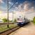 trein · zonsondergang · laat · dag · saskatchewan · Canada - stockfoto © givaga
