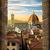 kilátás · Florence · kupola · város · tető · város - stock fotó © givaga