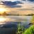 colorido · primavera · paisagem · rio · belo · nuvens - foto stock © givaga
