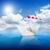 fehér · papír · csónak · süllyed · tenger · víz - stock fotó © givaga