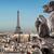 bağbozumu · Eyfel · Kulesi · resim · Paris · gökyüzü · ışık - stok fotoğraf © givaga