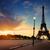 cloudy sunrise in paris stock photo © givaga