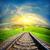 鉄道 · 天国 · 道路 · 抽象的な · 自然 · 旅行 - ストックフォト © givaga