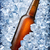 brown bottle in ice stock photo © givaga