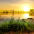 napfelkelte · fából · készült · móló · tó · víz · fa - stock fotó © givaga