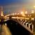 Paris · noite · pôr · do · sol · rio · rua · luzes - foto stock © givaga