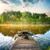 удочка · пейзаж · стержень · реке · банка · Восход - Сток-фото © givaga