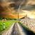 フィールド · 干ばつ · 詳細 · 地球 · 長い - ストックフォト © givaga