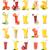 alimentare · collage · isolato · bianco · mela · frutta - foto d'archivio © givaga