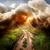 yıldırım · bilgisayar · oluşturulan · dijital · sanat · göl - stok fotoğraf © givaga