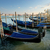 venetian gondolas at sunset stock photo © givaga