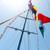 zászlók · különböző · országok · zászlórúd · kék · ég · zászló - stock fotó © givaga