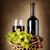 wine and grapes in basket stock photo © givaga