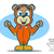 полет · костюм · несут · Cute · мишка · Cartoon - Сток-фото © gleighly