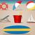 sol · mar · praia · ilustração · isolado - foto stock © gleighly