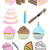 Cupcake Bakery Icon Set stock photo © gleighly