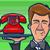 официант · красный · набирать · номер · телефон · серебро - Сток-фото © gleighly