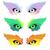 szem · ikon · szemek · ahogy · farkas · bagoly - stock fotó © Glenofobiya