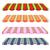 詳しい · 実例 · セット · 縞模様の · ベクトル · 屋根 - ストックフォト © Glenofobiya