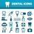 стоматологических · иконки · крест · дизайна · здоровья · рот - Сток-фото © glorcza
