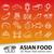 asian food outline icons stock photo © glorcza