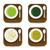 comida · ícones · verde · vetor · teia - foto stock © glorcza
