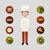chef and food icons stock photo © glorcza