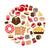şekerleme · simgeler · dizayn · çikolata · şeker · bilgi - stok fotoğraf © glorcza