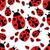 vektor · katicabogár · végtelen · minta · piros · katicabogár · rajz - stock fotó © glorcza