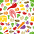 healthy food seamless pattern stock photo © glorcza