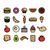 collection of colourful food icons stock photo © glorcza