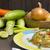 fried rice with shrimp on the wood table stock photo © gloszilla