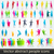 set of colorful abstract people silhouettes stock photo © glyph