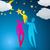 silhueta · casal · noite · nuvens · estrelas · brilhante - foto stock © glyph