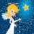 beautiful christmas angel with star stock photo © glyph