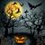 karga · dolunay · halloween · oturma · gökyüzü · ay - stok fotoğraf © glyph