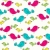 cute · aves · vector · sin · costura · textura - foto stock © glyph