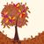 стилизованный · осень · дерево · логотип · лента · jpg - Сток-фото © glyph