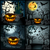 set of halloween illustration with jack olantern stock photo © glyph