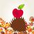 riccio · mela · cartoon · illustrazione · fumetto · animale - foto d'archivio © glyph