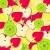 bonitinho · desenho · animado · fruto · adesivo · conjunto · maçã - foto stock © glyph