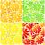 set of four seamless citrus fruit background stock photo © glyph