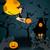 halloween · bruxa · gato · voador · cabo · de · vassoura · amigável - foto stock © glyph