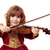 beautiful little girl play violin stock photo © goce